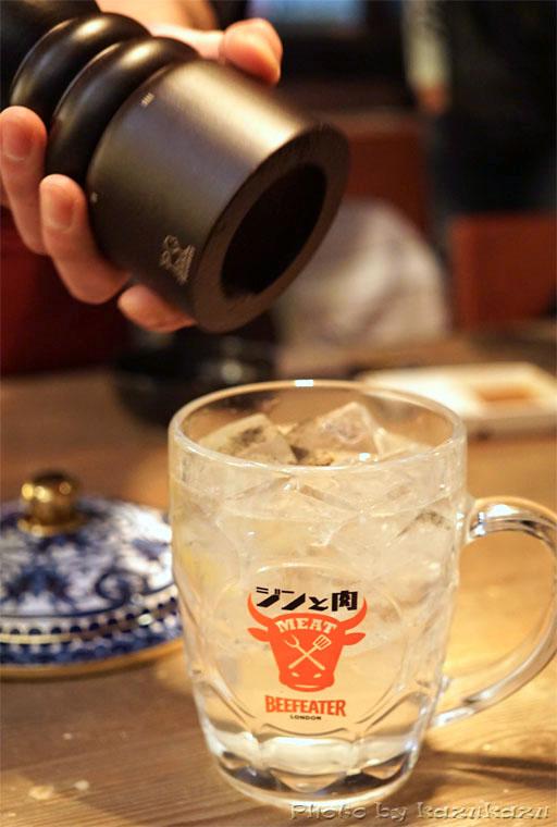 東京六本木に構える金肉(kin-niku)のジンと肉