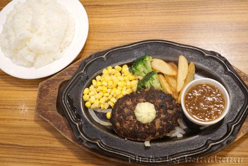 お台場のHamburg&Steak HIROの仙台牛ハンバーグ