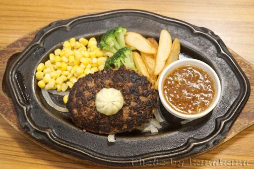 お台場のHamburg&Steak HIROのハンバーグ