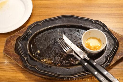 お台場のHamburg&Steak HIROのハンバーグ完食