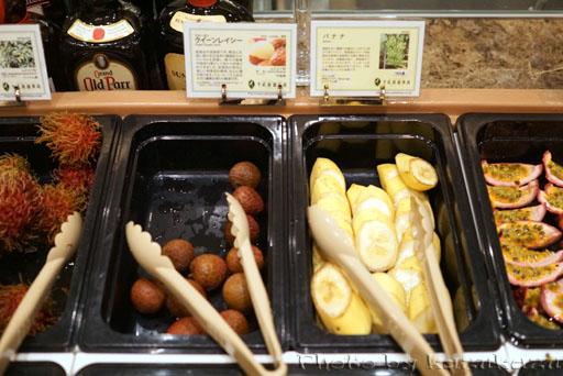 千疋屋総本店の世界のフルーツ食べ放題のバナナ