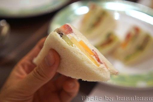 千疋屋総本店の世界のフルーツ食べ放題に出てくるミックスサンド