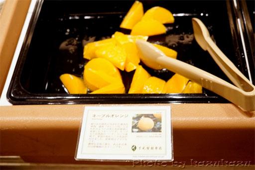 千疋屋総本店の世界のフルーツ食べ放題のネーブルオレンジ