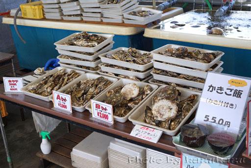 宮城県松島の旬味かきの里の牡蠣と帆立