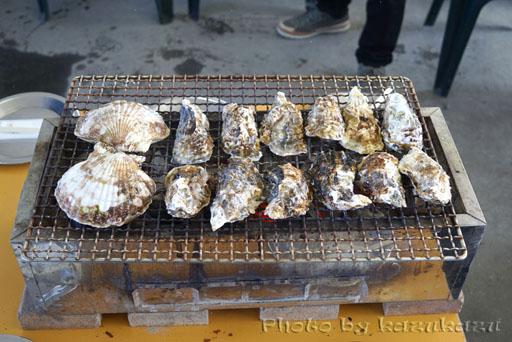 宮城県松島の旬味かきの里の炭火焼き