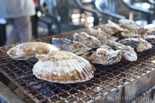 宮城県松島の旬味かきの里の新鮮牡蠣と帆立
