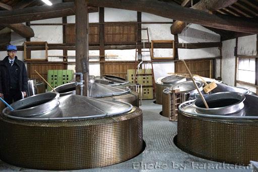 岐阜県美濃加茂市太田本町の御代桜醸造の仕込み