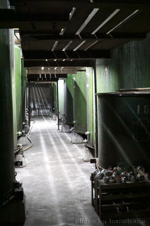 岐阜県美濃加茂市太田本町の御代桜醸造の貯蔵タンク