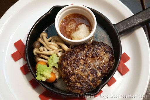 熟成牛100%の極旨ハンバーグステーキ 和風おろしポン酢ソースWithグリル野菜