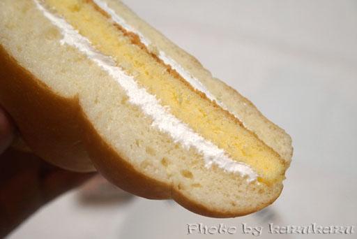 福島県郡山市の酪王牛乳パンのかすてらサンド